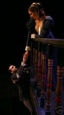 J.C. Long and Veronika Duerr as Romeo and Juliet