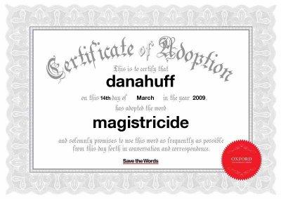 Magistricide