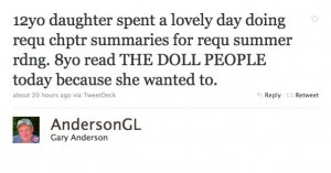 Gary Anderson tweet