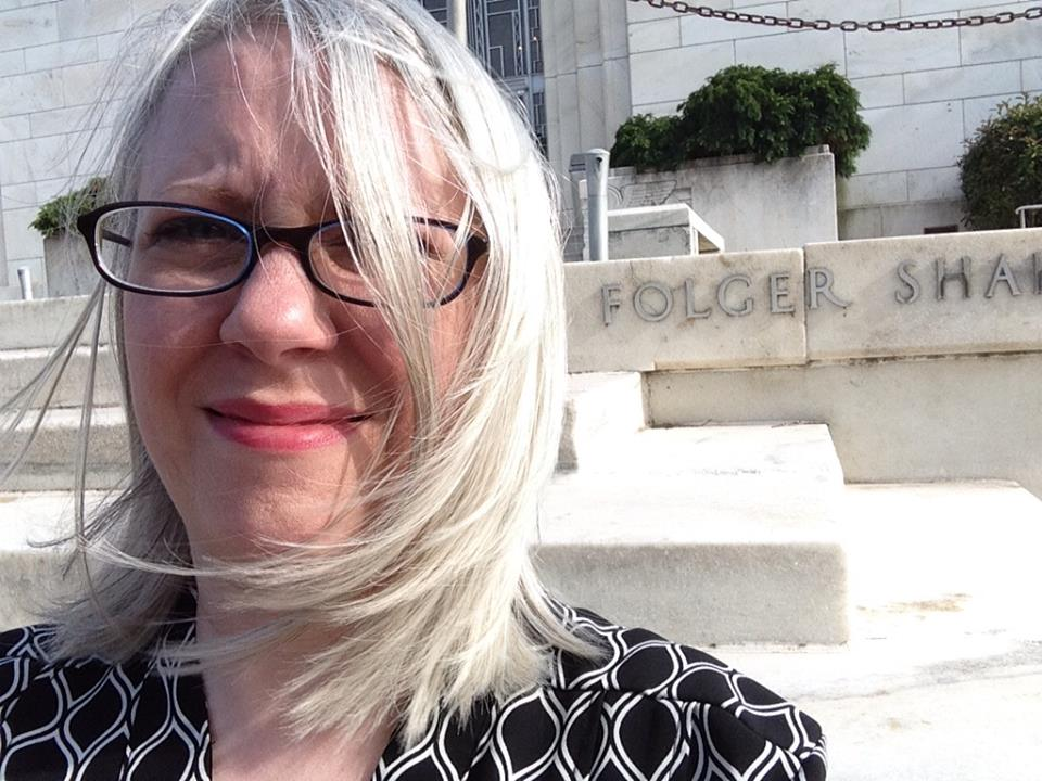 Me at the Folger Library