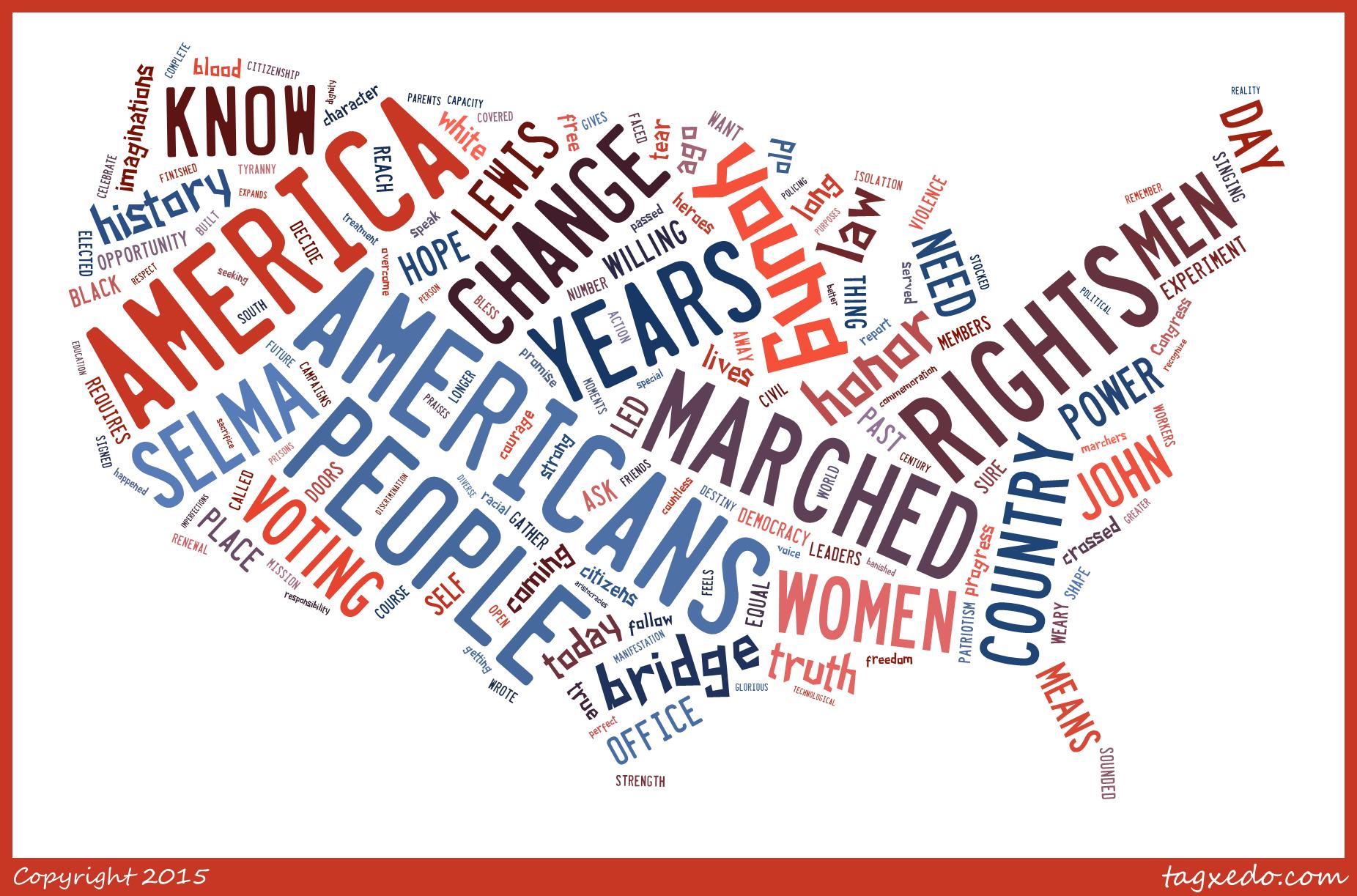 Obama Selma Wordcloud