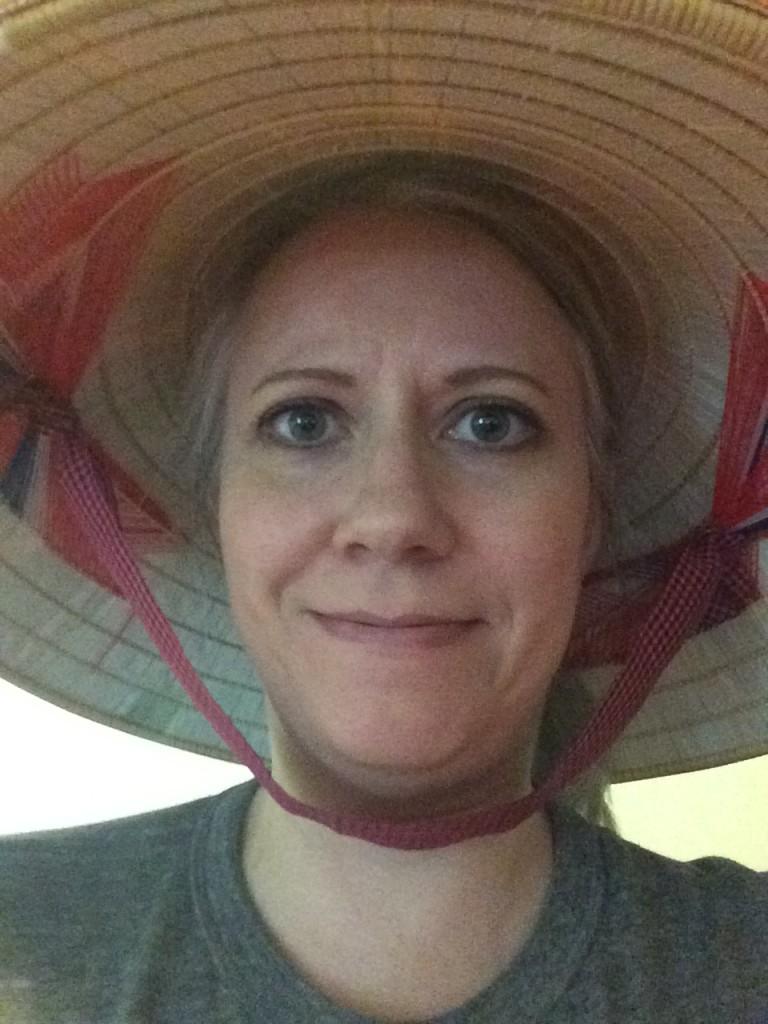 Dana in Traditional Vietnamese Hat