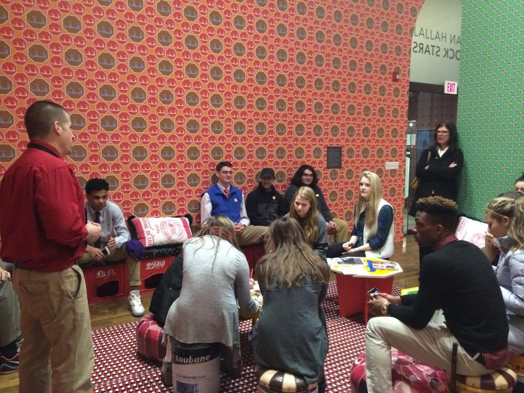 Students Discuss Exhibit