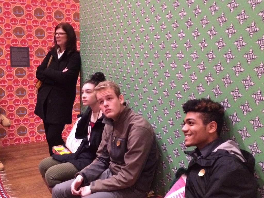 Students Enjoying the Hajjaj Exhibit