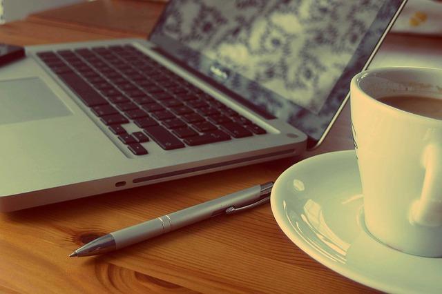 computer coffee photo