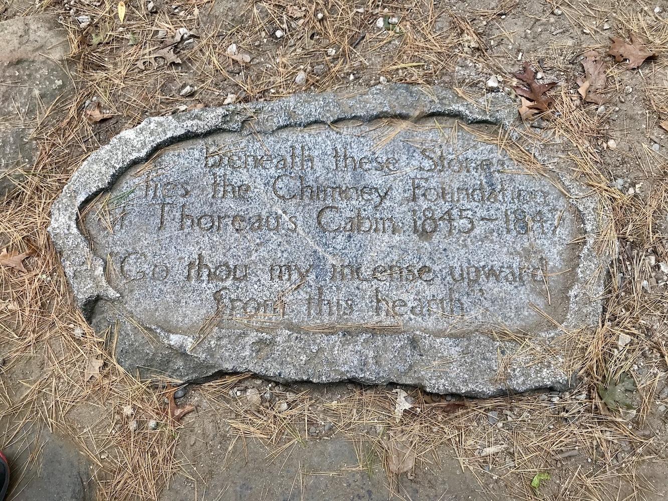 Thoreau's Chimney Marker