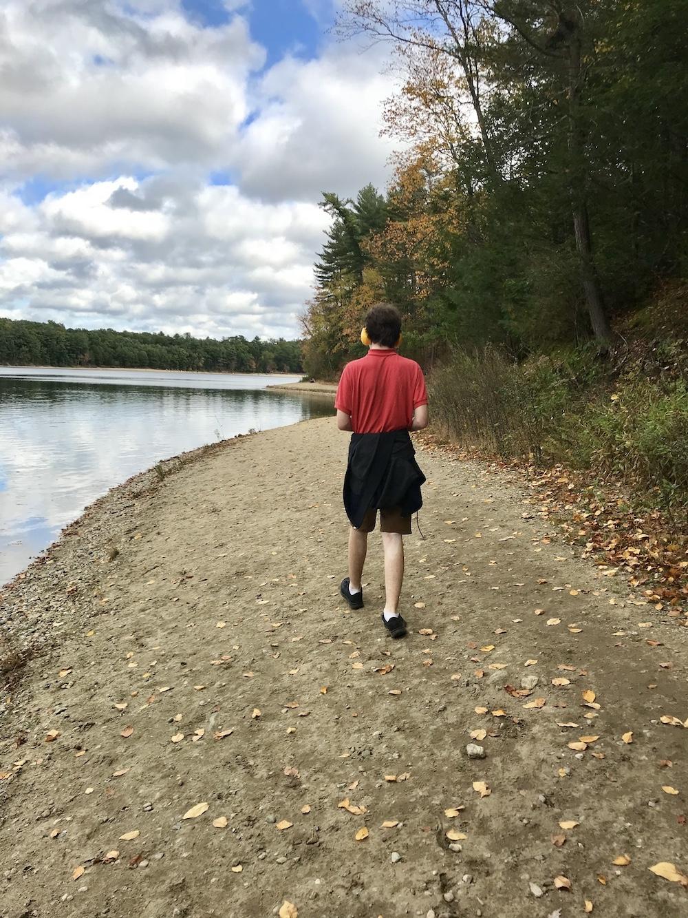 Dylan walking