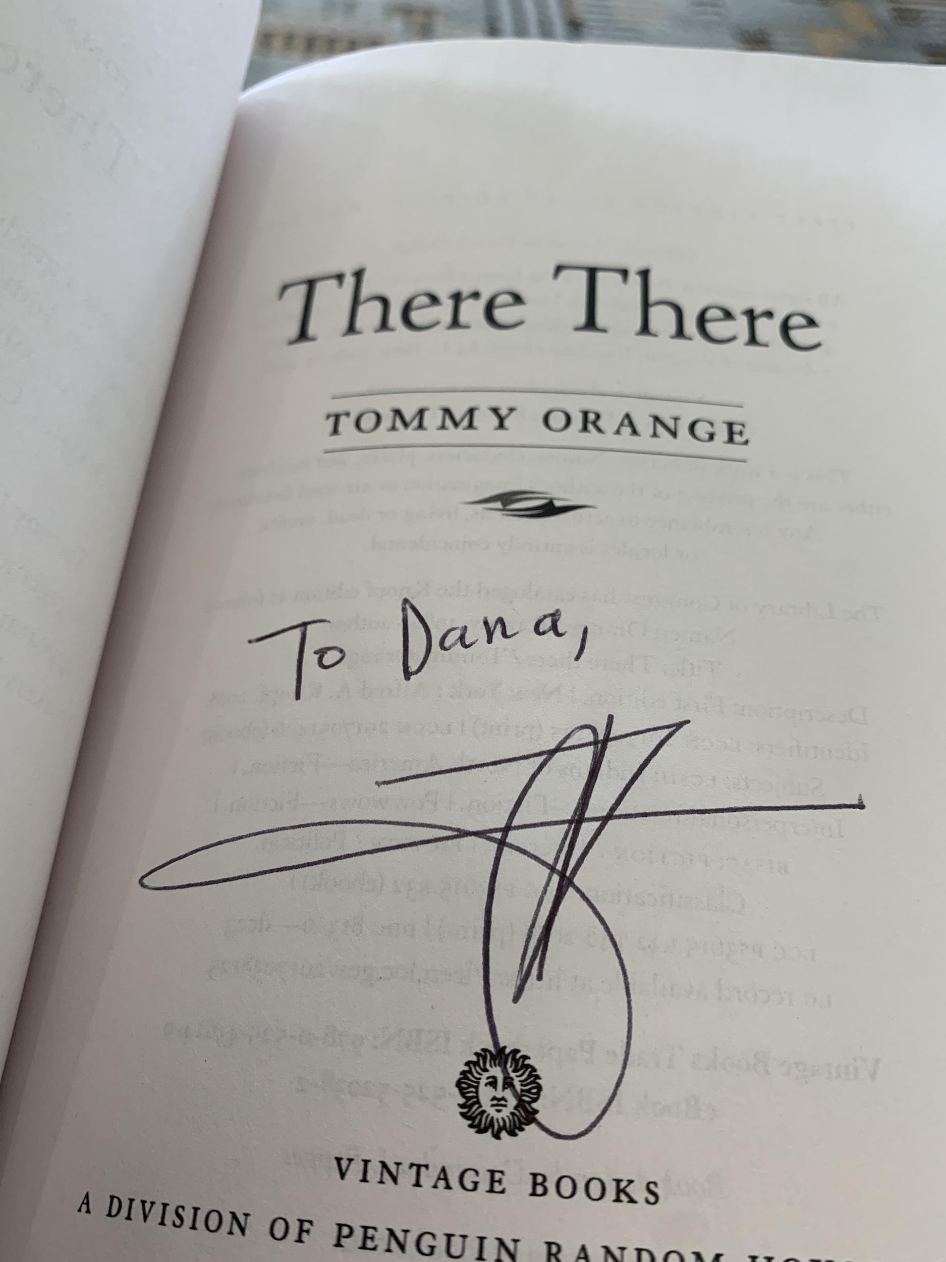 Tommy Orange Book Inscription